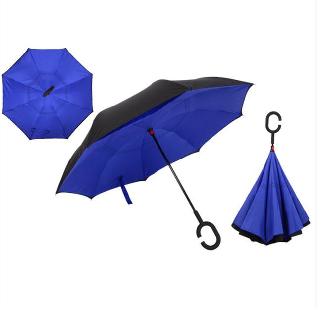 C nyakú kék esernyő
