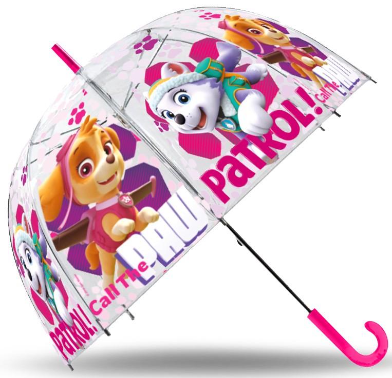 Gyerek átlátszó esernyő Paw Patrol 12193f462b