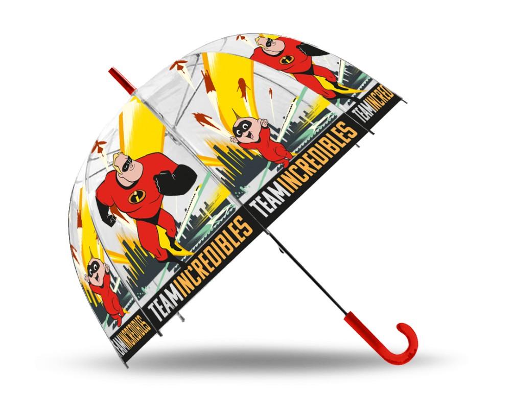 Gyerek átlátszó esernyő The Incredibles, A Hihetetlen család Ø70 cm