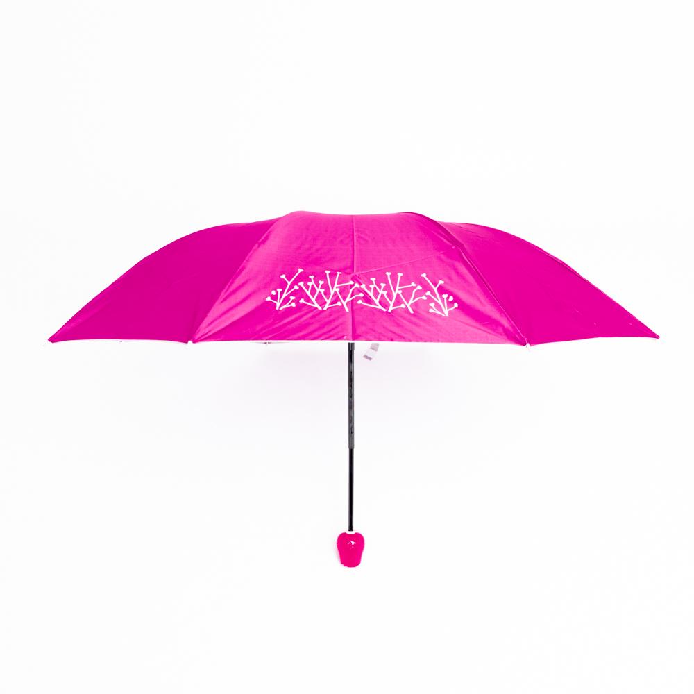 Rózsa alakú női esernyő váza kialakítású tokban pink színben