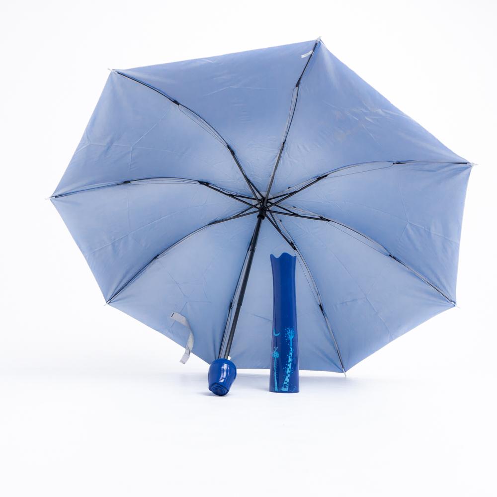 Rózsa alakú női esernyő váza kialakítású tokban sötétkék színben
