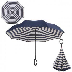 C nyakú kék csíkos esernyő