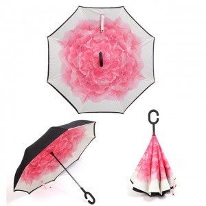 C nyakú rózsa mintás esernyő