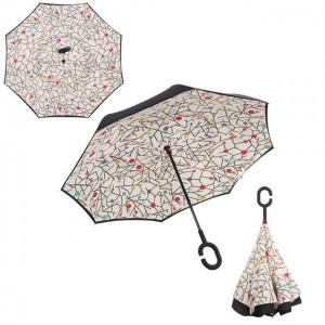 C nyakú mintás esernyő