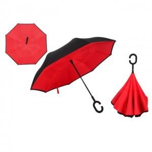 C nyakú piros esernyő