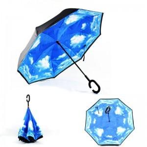 C nyakú égbolt mintájú esernyő