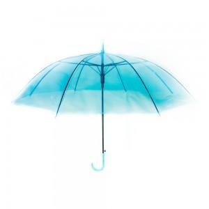 Áttetsző esernyő kék színben