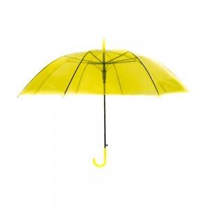 Áttetsző esernyő sárga színben