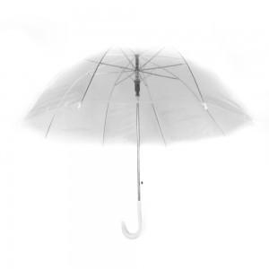 Áttetsző esernyő fehér színben