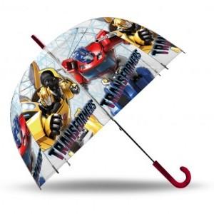 Gyerek átlátszó esernyő Transformers 70 cm