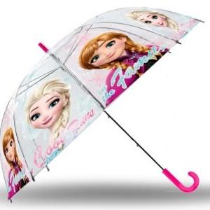 Gyerek átlátszó, félautomata esernyő Disney Frozen, Jégvarázs 83 cm